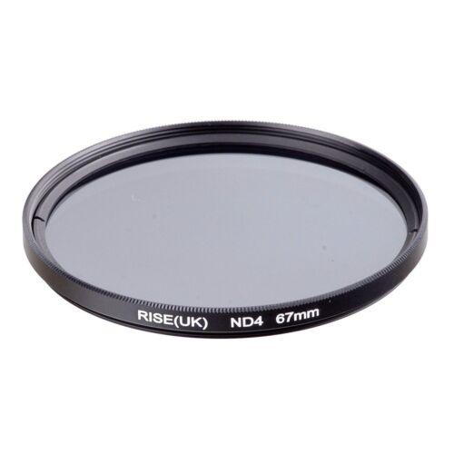Aumento 67mm Nd Filtro de Densidad Neutra Set Nd2 Nd4 Nd8 Para Canon Nikon Lente Fre UK
