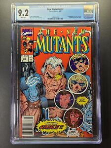 NEW MUTANTS #87 CGC 9.2 1st Cable! NEWSSTAND EDITION!