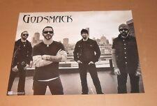 Godsmack 1000 HP Promo 2014 Original 2-Sided Poster 24x18