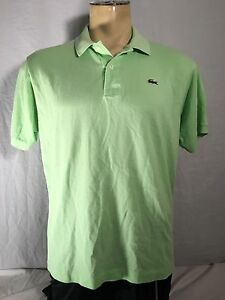 d613f5390 Lacoste Men's Shirt 6 Bright Lime Green Short Sleeve Polo | eBay