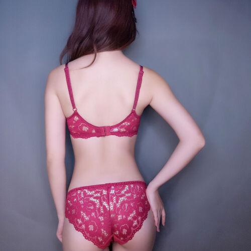 double shoulder strap bra set deep V-neck thickening women/'s push up underwear