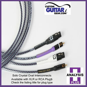 Analysis-Plus-Solo-Crystal-Oval-Interconnect-Cables-Length-0-5-Meters-XLR-XLR