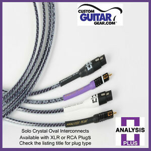 Analysis Plus Solo Crystal Oval Interconnect Cables, Length 1.0 Meter, RCA-RCA