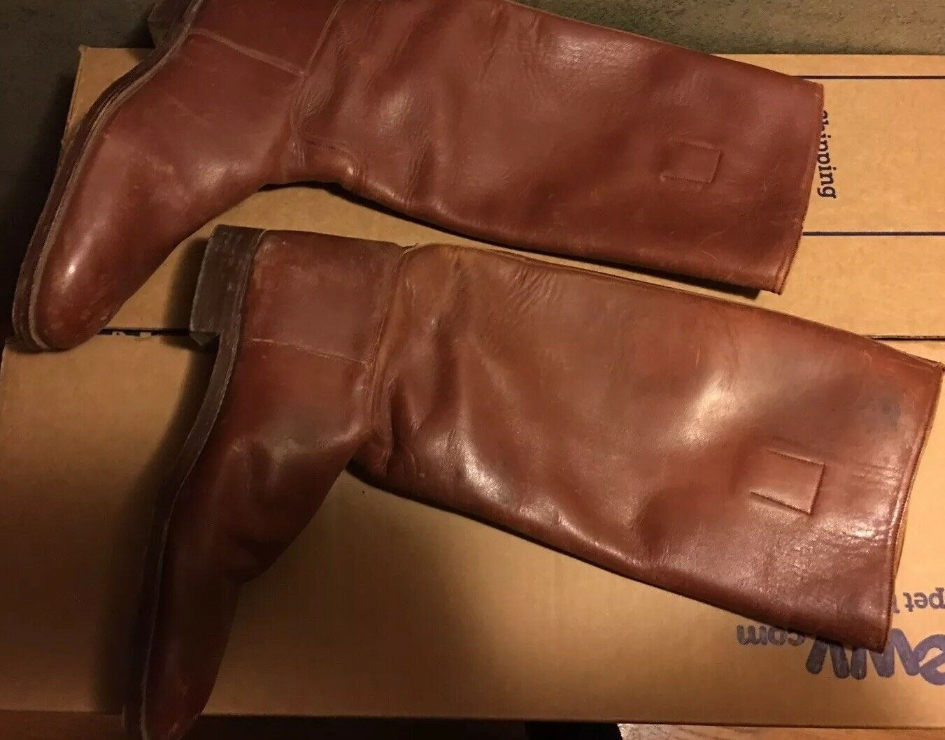 Miller's New York Vtg Equestrian Riding Boots Sz 7.5 Pre Owned Made In England