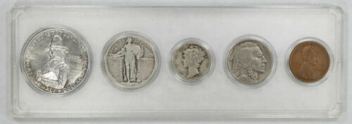 1920 BIRTH YEAR COIN SET PILGRIM COMMEMORATIVE 50C 25C 10C 5C 1C 5 COINS YSP1920