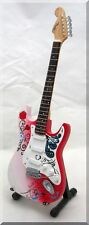 JIMI HENDRIX JOHN MAYER Miniature Guitar Monterey Strat Reverse Headstock Plain