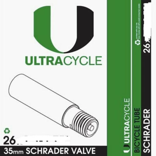 ULTRACYCLE THORN RESISTANT  26 x 2.2-2.5 SCHRADER VALVE BICYCLE TUBE