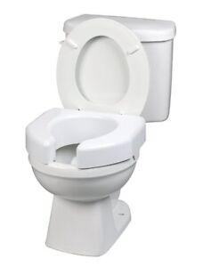 Brilliant Details About Raised Toilet Seat 3 Inch White 350 Lbs Capacity 1 Count Creativecarmelina Interior Chair Design Creativecarmelinacom