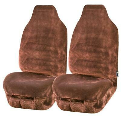 Charcoal Universal Finesse Faux Fur Front Seat Covers Size 60//25