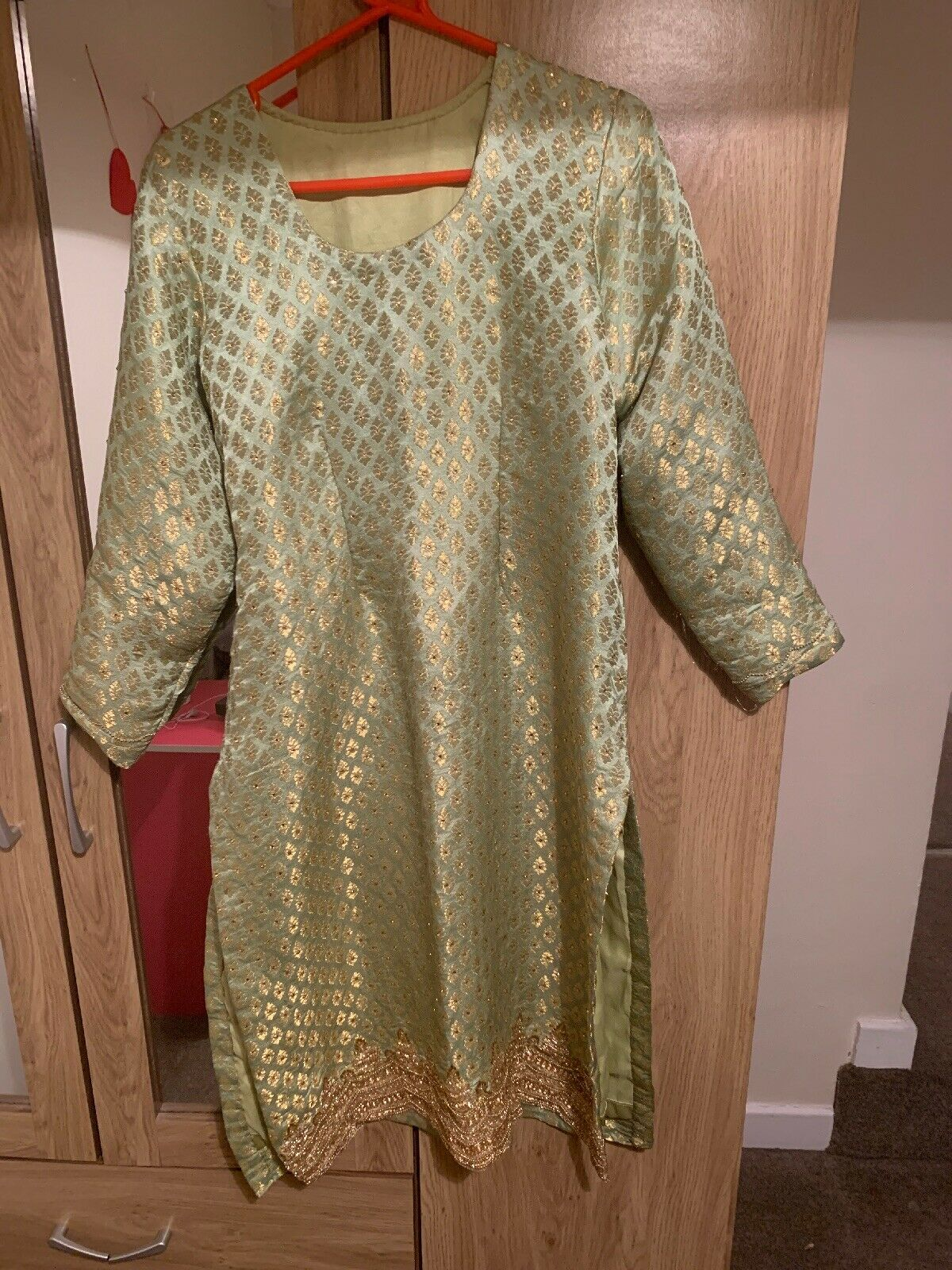 Green Part Wear Asian Suit For Party Weddings