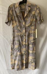 NWT DA-NANG Koi Camo Army Print Cotton Dress Sz XS $194