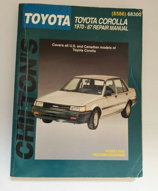 Chilton U0026 39 S Toyota Corolla 1970