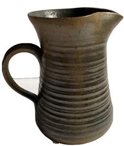 """VNTG Studio Art Pottery Pitcher Artists Signed 1976 Stoneware  Glaze 7"""""""