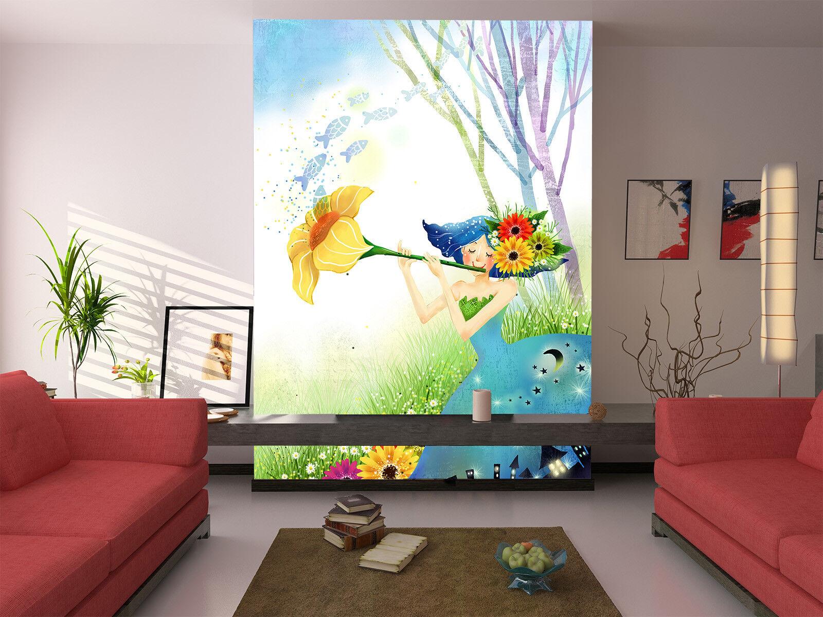 3D Morgenruhm Mädchen 98 Tapete Wandgemälde Tapete Tapeten Bild Familie DE Jenny