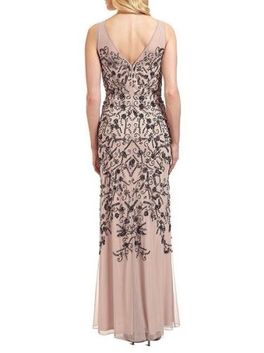 Beaded Rrp Ariella 395 Uk10 £ Nude Eden Dress Mesh Rx5wqH7Tx