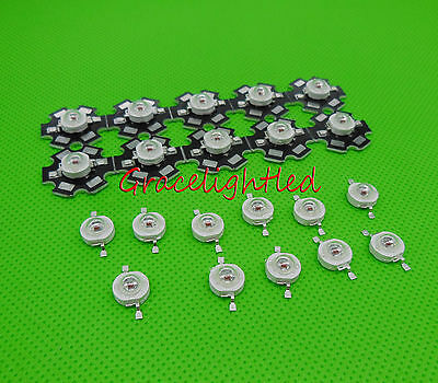 with 20mm pcb 2-100pcs 3W 3Watt Red 620nm-630nm High Power led chip no pcb