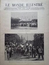 LE MONDE ILLUSTRE 1899 N 2210 LES FÊTES DE L'ADOLESCENCE AU PRE CATELAN A PARIS