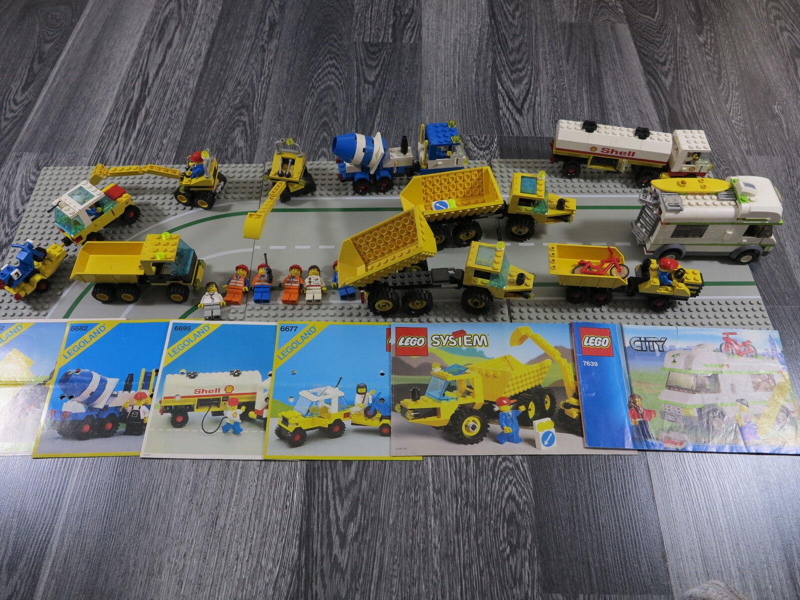 LEGO SYSTEM/City 6682/6695/6677/6581/6652/7639 + 3-PIASTRE personaggi/automobili ect.