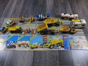 Système Lego / City 6682/6695/6677/6581/6652/7639 Figurines / voitures à 3 plaques Ect.