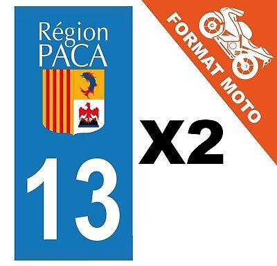 supstick 2 Stickers Autocollant Plaque IMMATRICULATION Moto DEPT 13 Provence-Alpes-C/ôte d/'Azur Format rectangulaire