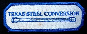 TEXAS-STEEL-CONVERSION-EMBROIDERED-SEW-ON-PATCH-OIL-TUBULAR-GOODS-COMPANY