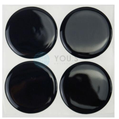 4 x tapa del cubo tapacubos embellecedores tapas llantas pegatinas 60,0 mm negro