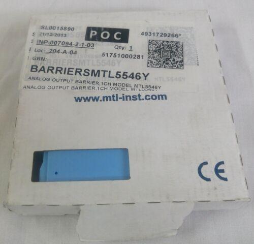 MTL 5546Y Isolation conducteur 4–20 mA pour Smart I//P Convertisseurs