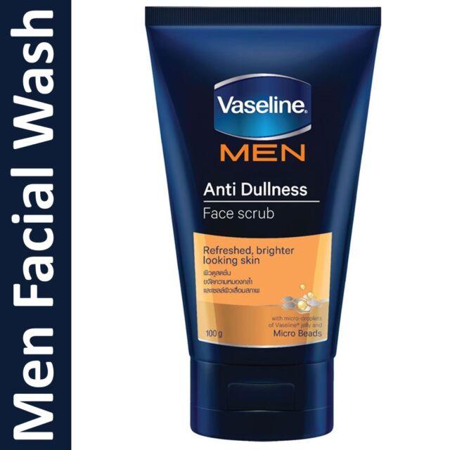 100g Vaseline Men Anti Dullness Face Scrub Facial Cleanser Foam For
