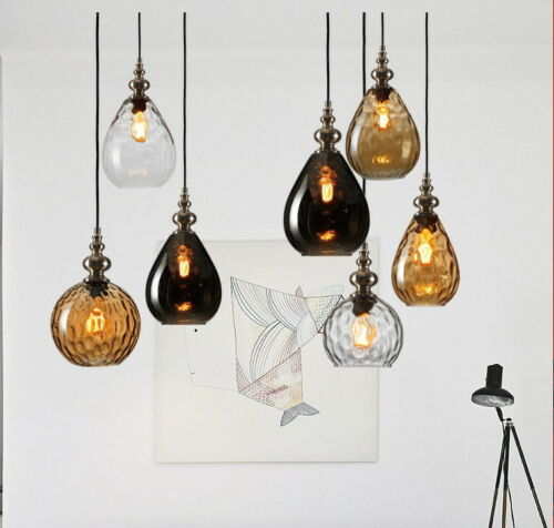 Droplight Glass Shade Ceiling Lamp Pendant Lights Lighting Fixtures Luminaire