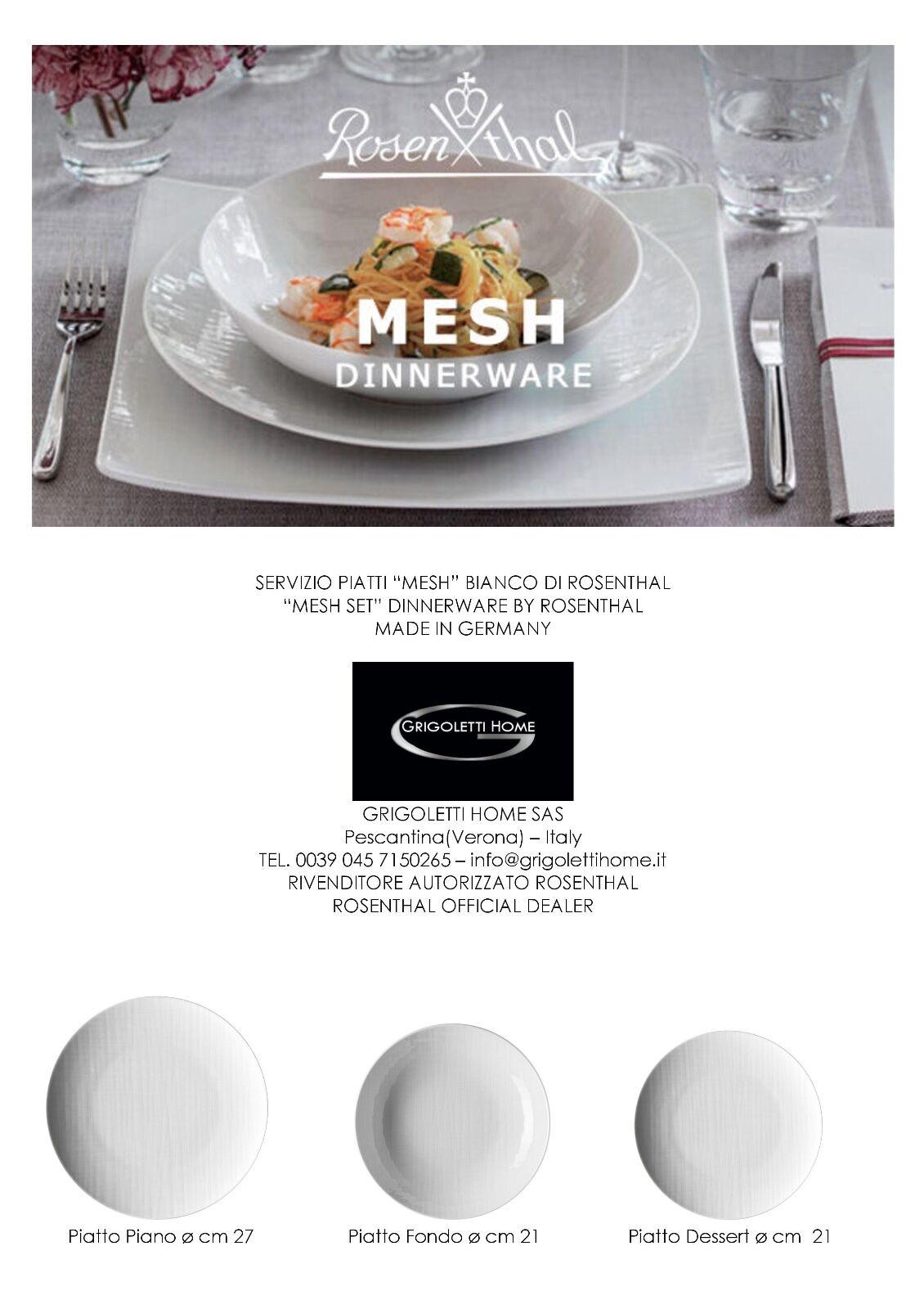Rosenthal - Mesh Blanc - Service Flat 36 pièces pour 12 gens Revendeur
