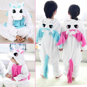 Pigiama-Kigurumi-Costume-Unicorn-festa-Adulti-Animali-Tuta-bambini-flanella-IT