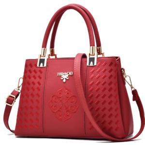 Ladies Stylish Red Pocketbook and Handbag  Fashion Leather Purse Shoulder Bag