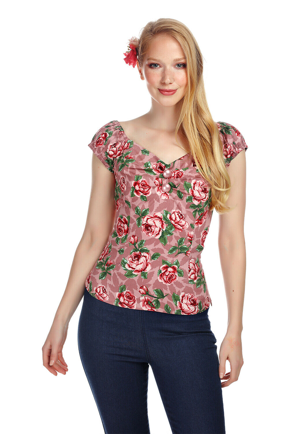 Collectif X Modcloth Dolores Bloom Top