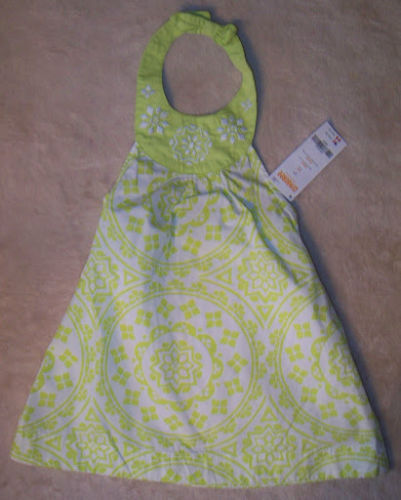 NWT NIP GYMBOREE Green ISLE dress Mosaic Halter girl sz 2T