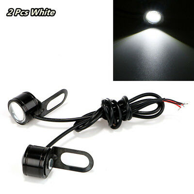 2pcs 12V Motorcycle LED Headlight Lens Lamps Spotlight Daytime Running Lights