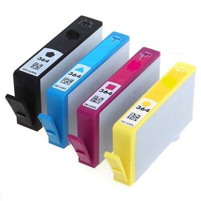 4 x 364 Ink Cartridge Black Cyan Magenta Yellow MultiPack For HP Photosmart 5520