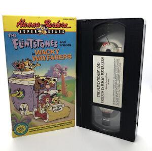 Hanna-Barbera-The-Flintstones-and-Friends-in-Wacky-Wayfarers-VHS-90s-Cartoons