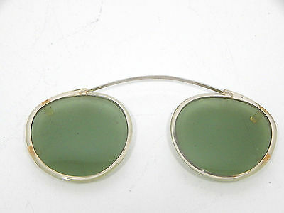 Vintage 1930's or 40's Clip On Green Sunglasses