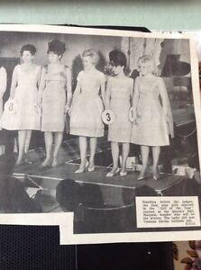 66-5-Ephemera-1965-Picture-Nine-Girls-Margate-Girl-Of-The-Year-Beauty-Final