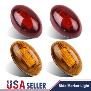 4pcs-For-1999-2010-Ford-F350-LED-Dually-Bed-Front-Rear-Side-Fender-Marker-Light