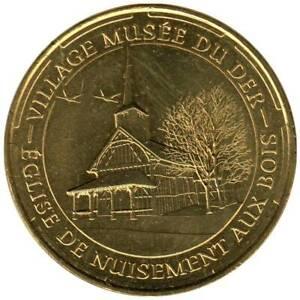 51-1810 - JETON TOURISTIQUE MDP - Village Musée du Der - Eglise - 2014.4
