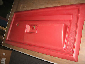 Nos Mopar 1984 86 Dodge Ramcharger Pickup Pass Door Red Interior Trim Panel Ebay