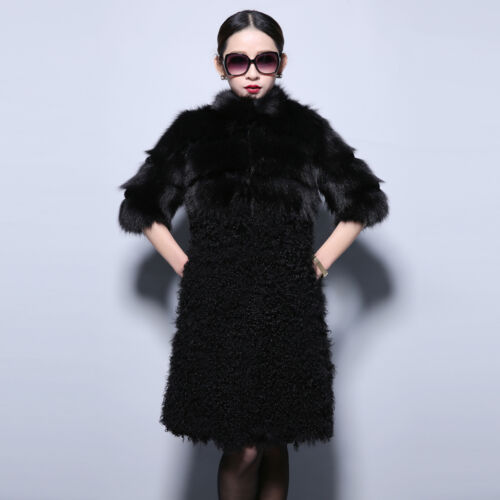 Real Lamb Fox Coat Winter 2016 Top Fur Thick 14185 With Jacket Grade 6WwfFnq5