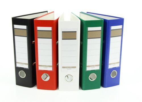 blau rot und schwarz grün 5x Ordner // DIN A5 // 75mm // Farbe: je 1x weiß