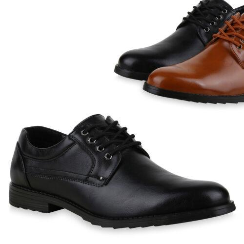 Herren Business Schuhe Klassische Schnürer Profilsohle Halbschuhe 825314 Trendy