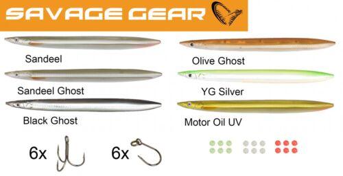 6 Savage Gear Line Thru Sandeel 15cm 27g Meerforellenwobbler Durchlaufblinker