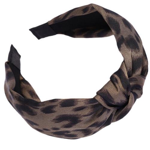 Damen Leopard Haarband Stirnband Turban Haarreif Knoten Elastisch Rockabilly