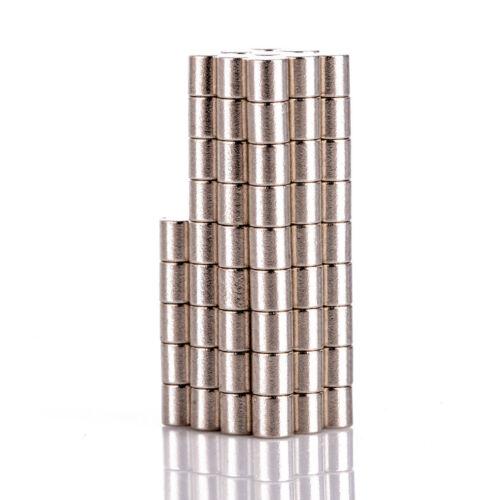 100Stück Neodym Runde Magnete N50 Scheibe Supermagnete doppelt vernickelt 2x2mm
