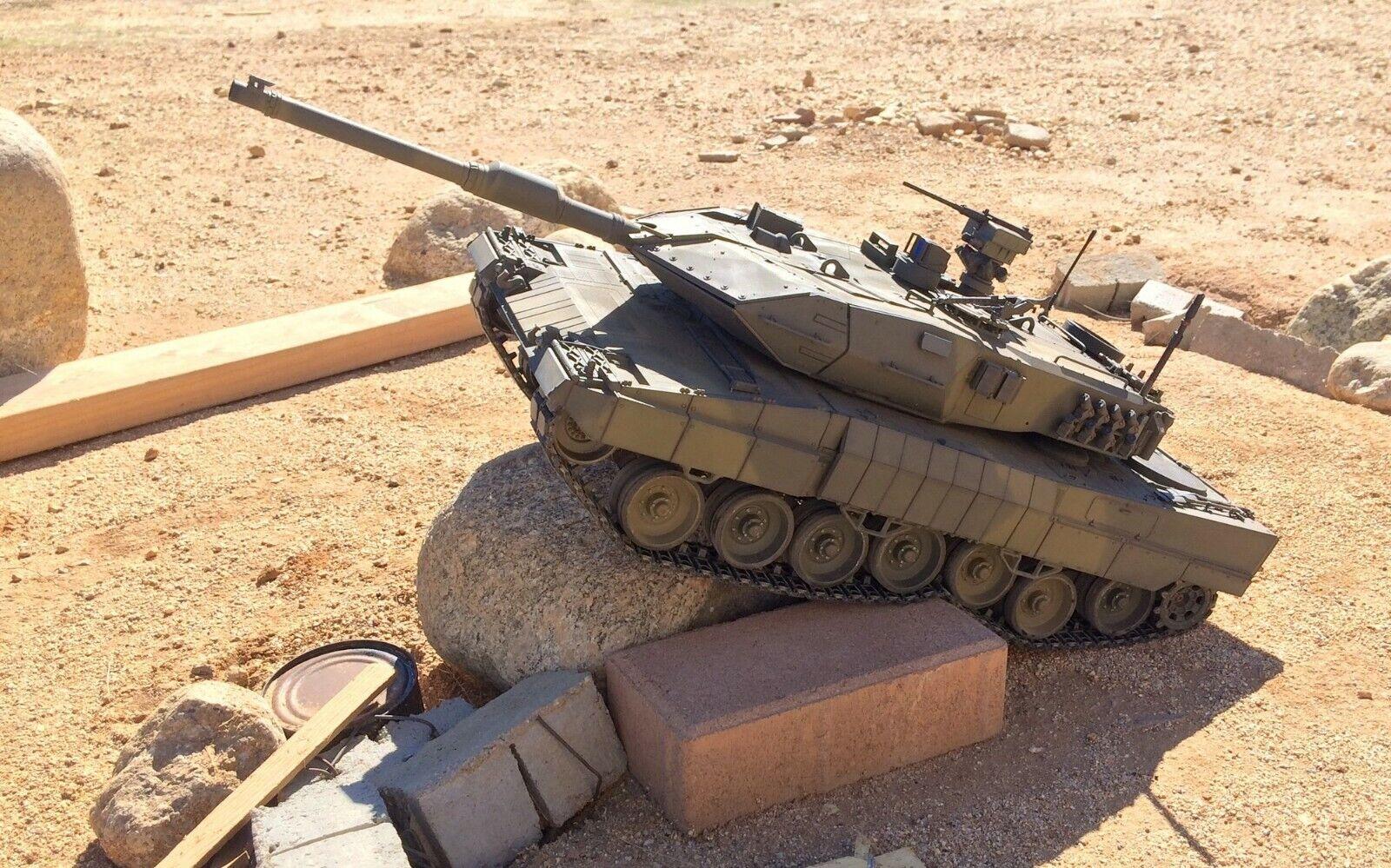 Nuevo Heng Long Tanque De Radio Control Remoto Controlado Leopard 2A6 BB Tiro 2.4G 1 16 RTR