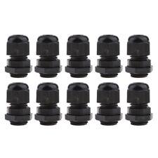10 Stück M16 Schwarz Nylon Wasserdicht IP68 Kabelverschraubungen Gelenke 4-8mm